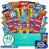 The Care Crate Snack Box Care Package ( 40 piece Snack Pack ) Chips Variety Pack, Pretzels, Candies