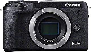 Canon Camera ES EOS M6 Mark II Cámara Mirrorless de 32.5 MP (sensibilidad ISO de hasta 25600 14 fps vídeo 4K y Full HD de hasta 120 fps Bluetooth Wi-Fi) Tamaño Único Negro