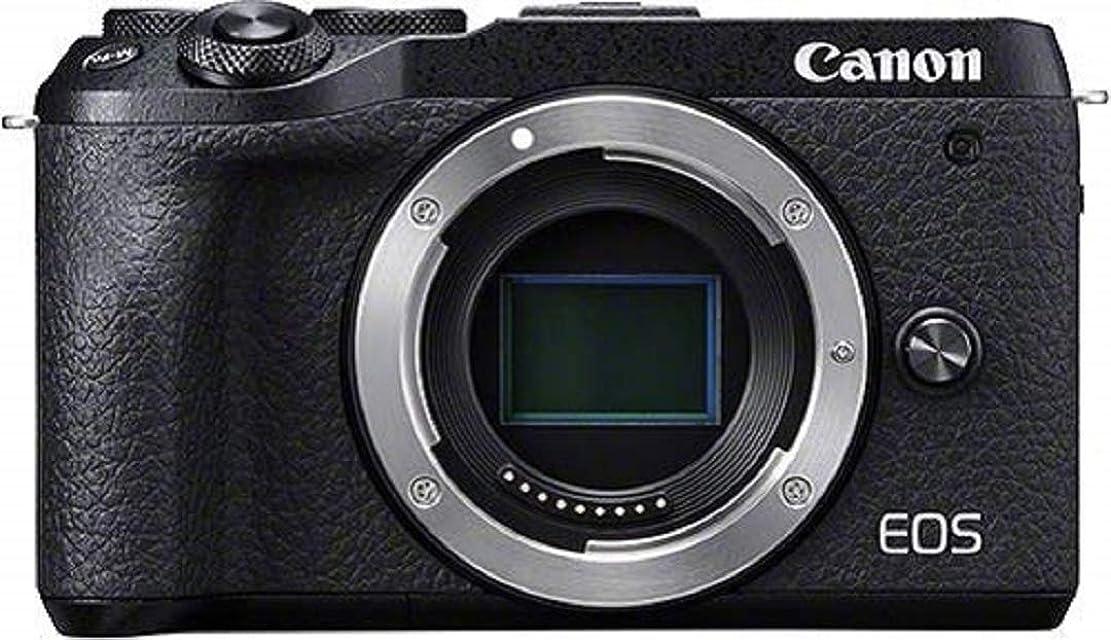 Canon Camera ES EOS M6 Mark II Cámara Mirrorless de 32.5 MP (sensibilidad ISO de hasta 25600 14 fps vídeo 4K y Full HD de hasta 120 fps Bluetooth Wi-Fi) Tamaño Único Negro