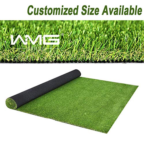 WMG GRASS Premium Artificial Grass, Easy to Clean Drainage Mat, 4' x 19' Artificial Turf for Dogs, Pet Turf Realistic Indoor/Outdoor Mat 4FTX19FT (76 Square FT)