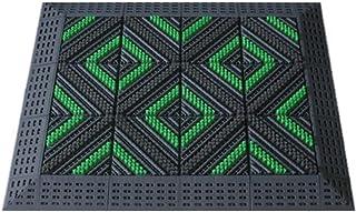 JIAJUAN Outdoor Doormat Front Door Entryway Mat Non-Slip Durable Gray Dirt Trapper Floor Mats Washable (Color : A, Size : ...