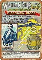 ブリキ看板1889ウォルサムブラザーズビール収集壁アート