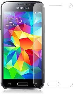 واقي الحماية لشاشة هاتف سامسونج جالاكسي اس5 ميني شفاف يغطي الزجاج المقوى مقاوم للخدش