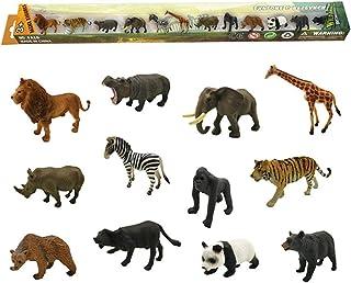 Animal Model Toy Set 12pcs Simulation Animal Toys Mini Zoo Baby Educational Toy
