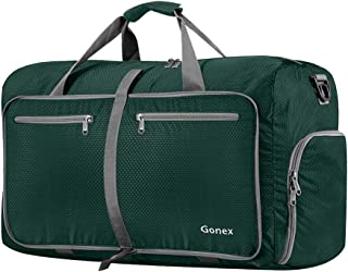 Gonex 60L 80L 40L Packable Travel Duffle Bag, Water & Tear Resistant Foldable Duffel Bags for Luggage Gym Sports Camping T...