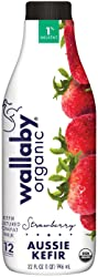 Wallaby Organic, Low Fat Kefir, Strawberry, 32 oz