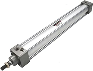 Bore: 2 1//2 inch Stroke: 12 inch Baomain Pneumatic Air Cylinder SC 63 x 300 PT 3//8 Screwed Piston Rod Dual Action with Foot Flange CY-63/&CB-63
