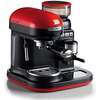 Ariete 1318 Cafetera Espresso Moderna con Molinillo de Café Integrado, 15 Bares De Presión, 0.8 Litros, Apagado Automático, Depósito Molinillo 250 g, Color Rojo: Amazon.es: Hogar