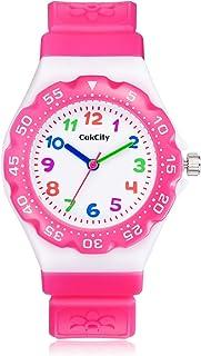 CakCity Kids Watch Waterproof Cute Cartoon Analog Girls Boys Wrist Watch for Little Child Time Teacher for Children 3-10 Year