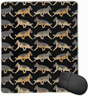 Mouse Pad Trotting German Shepherd Dog Personalized Mouse Pad Non-Slip Mouse Mat Gaming Mouse Pad