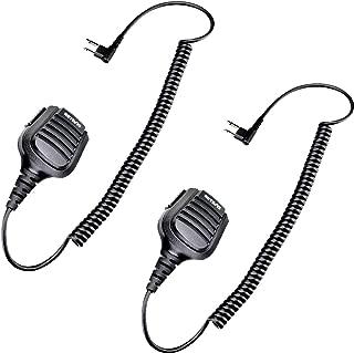 Retevis Walkie Talkie Mic Waterproof 3.5mm Audio Jack Shoulder Speaker Mic for Motorola CLS1110 CT150 P100 CP200D GP2000 RMV2080 2 Way Radios (2 Pack)
