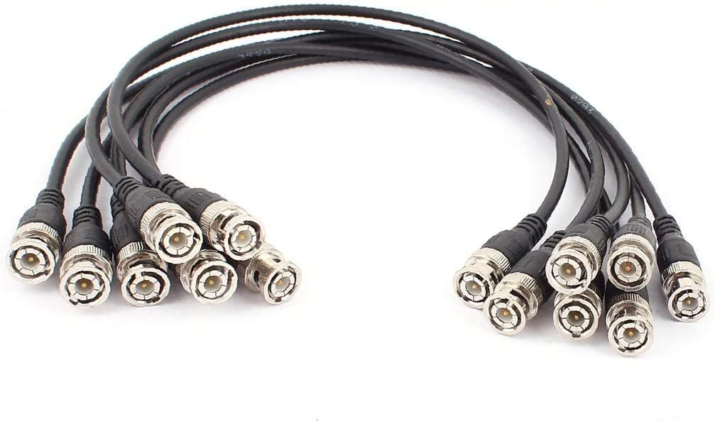 X-DREE 8Pcs 50CM BNC Male to Coaxial M for Spring new work one after another service CC Video Cable
