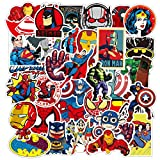 50PCS Superhero Marvel Comic Stickers for Laptop Water Bottle Funny Trendy Cool Decal Pack for Teen Kid Adult Girl Boy Skateboard Computer Car