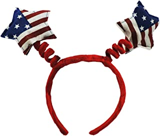 USA Red White & Blue Star Costume Party Novelty Headband