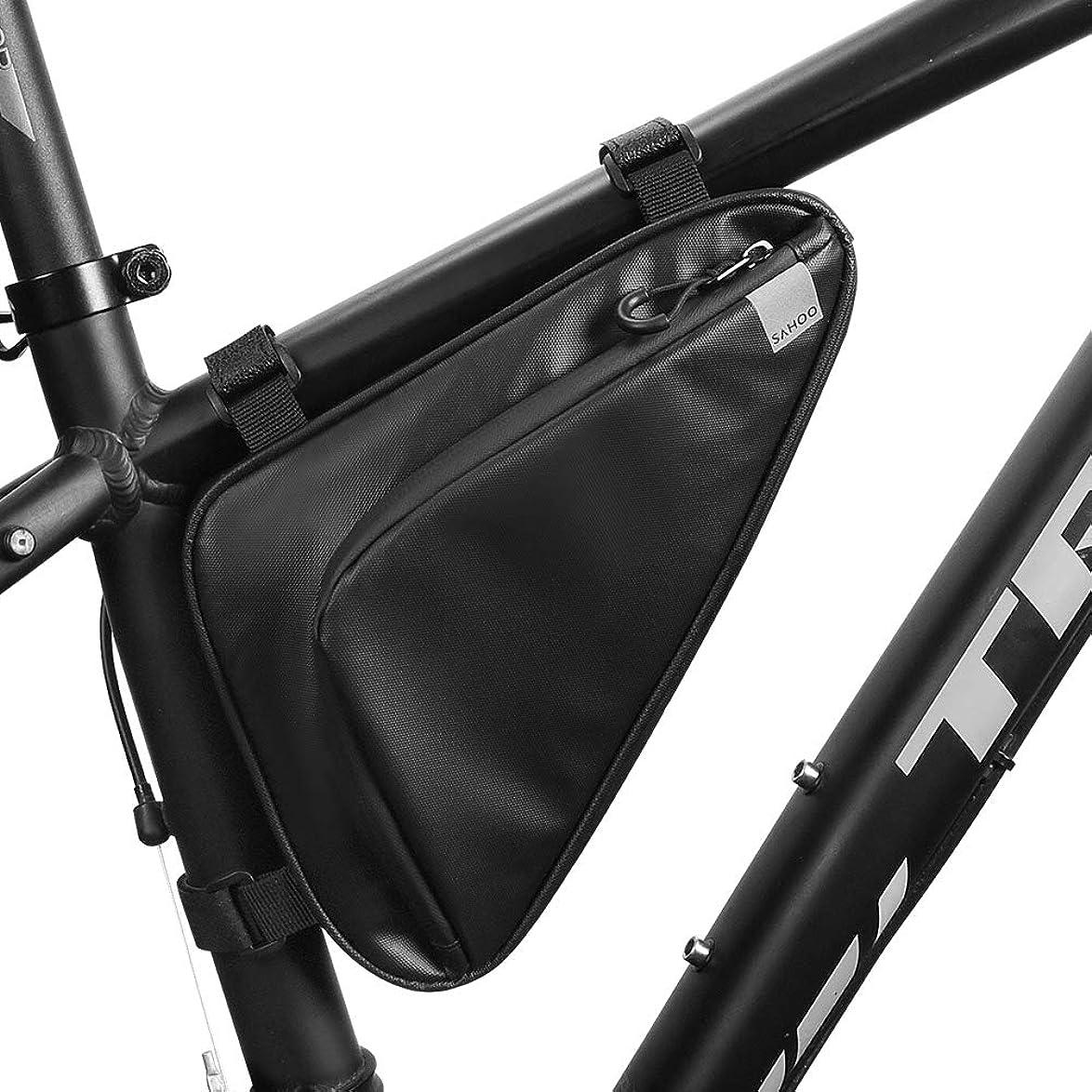 経験的受取人モルヒネRoloiki 防水自転車トライアングルバッグ自転車フレームチューブバッグパックサイクリングツールアクセサリー収納ポーチバッグ