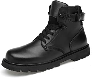 SHENYUAN Men's Ankle Work Boot Casual Classic Outsole Winter Fleece Inside High Top Boot Work or Casual Wear (Conventional Optional) (Color : Warm Black, Size : 48 EU)