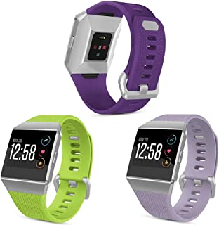 SKYLET Compatible with Fitbit Ionic Bands, 3 Pack Soft Replacement Sport Wristbands Compatible with Fitbit Ionic Smart Wat...