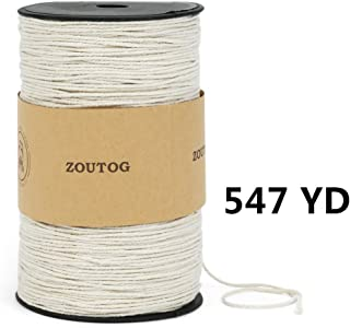 Macrame Rope, ZOUTOG 2mm x 547 yd (About 500m) Natural Cotton Soft Unstained Rope for Handmade Plant Hanger Wall Hanging Craft Making