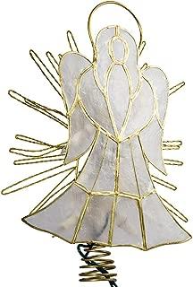 Kurt Adler 10-Inch Capiz Angel with Twisted Wire Treetop