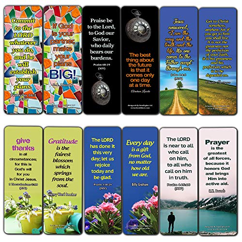 Encouraging Christian Quotes About Life And God (30 Pack) - Handy Life Changing Bible Texts And Quotes That Are Very Uplifting