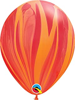 "PIONEER BALLOON COMPANY Agate Latex, 11"", Red & Orange"