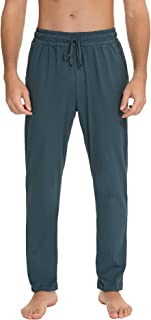 NB Men's Pyjama Bottoms Long Sleepwear Trousers Cotton Leisure Trousers for Men Loungewear with Pockets