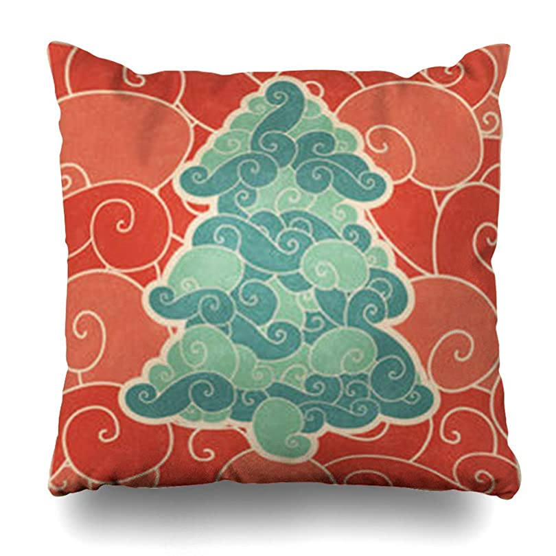 小屋台風マットレススロー枕カバーお祝い赤明るい抽象クリスマス正月休日休日鮮やかな色現代的なホームデコレーションクッションケーススクエア18 * 18インチ装飾ソファ枕カバー