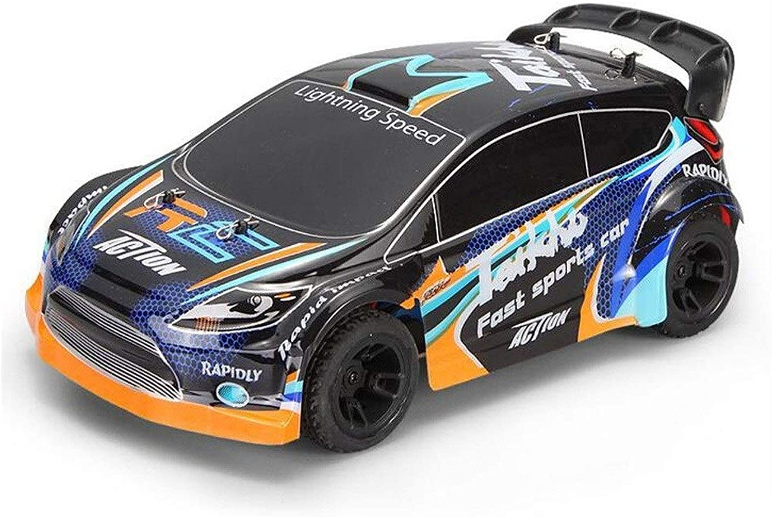 Mpotow 35km   h High-Speed 1 24 Fernbedienung Rennwagen Metall Chassis Allradantrieb Elektro Drift Pull Auto 2,4 GHzElectric Brushed 4WD RC Rally Car RTR Kinder Geschenk