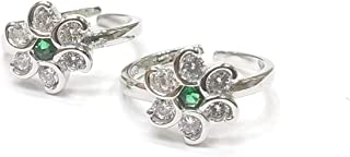 DARSHRAJ JEWELLERS 925 Sterling Silver Pure Green Toe Ring Women(bichhiya) weight 4.0gm