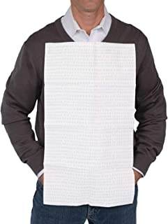 NEATsheets Oversized Disposable Adhesive Napkin, 100-Count, Grey Dot, Clothing Protector Pack | 13