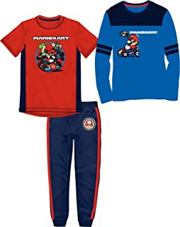 Super Mario Brothers Mario Kart Boys Everyday Active Wear Bundle Pants Set (2-Piece or 3-Piece)