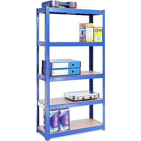 G-Rack 0020-1 Système d'étagères, Acier galvanisé Enduit de Poudre, Bleu, 1 Bay