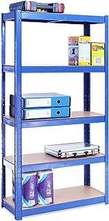 G-Rack 0020-1 Estantería de Almacenamiento Acero Inoxidable con Recubrimiento de Polvo Azul 150cm x 75cm x 30cm