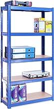 G-Rack 0020-1 Estantería de Almacenamiento, Acero Inoxidable con Recubrimiento de Polvo Azul, 150cm x 75cm x 30cm