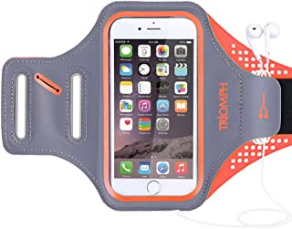 Armband for iPhone 8, 7, 6, 6S, SE, 5, 5C, 5S iPod Galaxy S6, S6 Edge S5 with Screen Protecter and Key Cards Money Holder, for Running, Workouts, Jogging, Hiking, Biking, Walking
