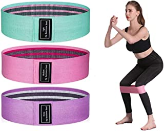 WENHSIN Resistance Bands for Women Legs and Butt - Non Slip Elastic Exercise Bands, Set of 3 Workout Bands Sports Fitness ...