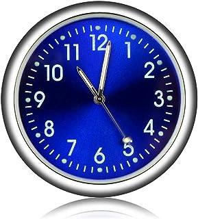 ساعة سيارة صغيرة رقمية على شكل ساعة اوتوماتيكية لتزيين السيارة - مينا ازرق
