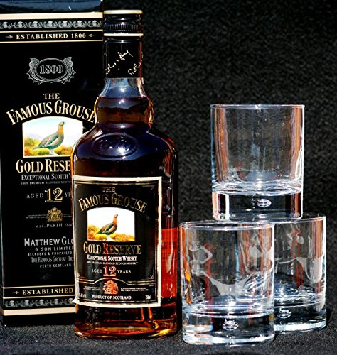 Famous Grouse GOLD 12 Years old 0,7 L Flasche + 3 Whisky Tumbler