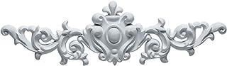 Ekena Millwork ONL16X04X01MA 16 3/8-Inch W X 4 3/4-Inch H X 3/4-Inch P Marcella Medium Leaf with Scrolls Onlay