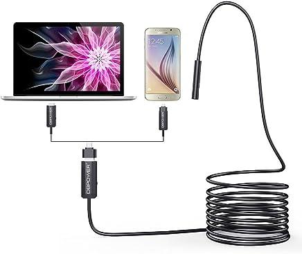 DBPower 2 Million Pixels CMOS 5M USB Waterproof HD 6-LED Borescope Endoscope Inspection Tube Visual Camera