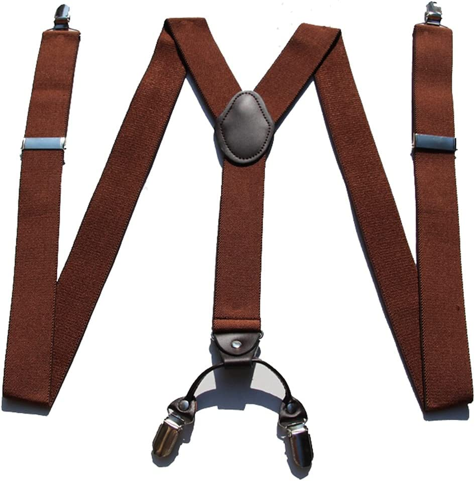 JJZXC Braces for Men & Women Fully Adjustable Y Shape Adults Slim Suspenders Braces for Trousers (Color : C, Size : Adjustable)