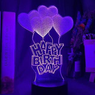 3D Illusie Nachtlampje Hart Luchtballon Kleur Veranderende Nachtlampje voor Meisjes Babykamer Decor Unieke Verjaardagscade...