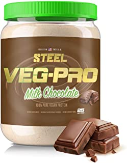 Steel Supplements Veg-PRO Pea Isolate Organic Vegan Protein Powder, Milk Chocolate - Gluten Free, Dairy Free, Soy Free, No...