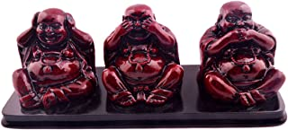 Feng Shui Three Buddhas, See, Hear and Speak No Evil Ornament + Free Red String Bracelet SKU:N1005