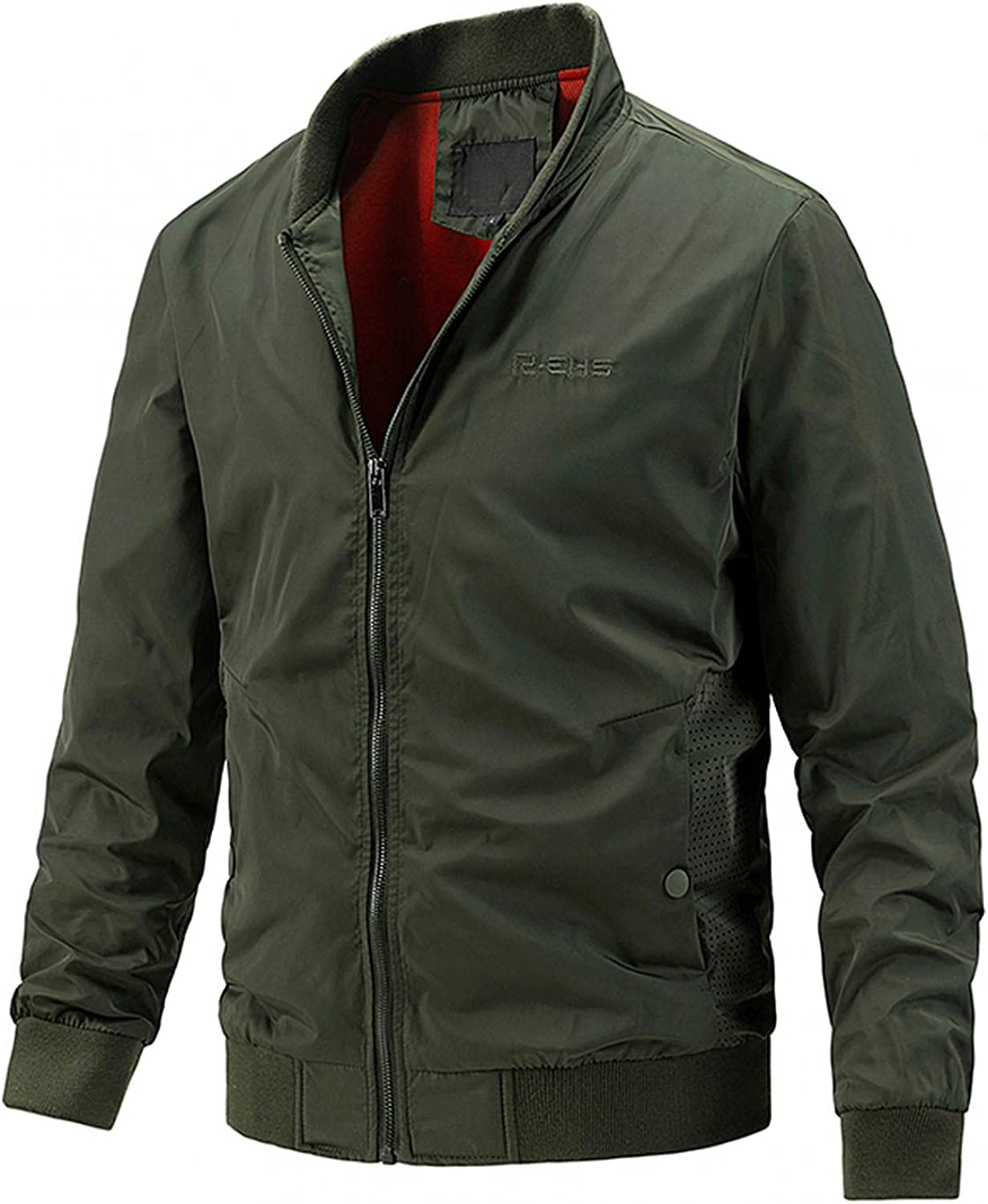 Men's Lightweight Cotton Military Jackets Autumn&Winter Casual Outdoor Adventure Outerwear Coats with Pockets