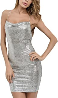 32be291feb5f Amazon.es: Vestido Plateado Corto - Vestidos / Mujer: Ropa