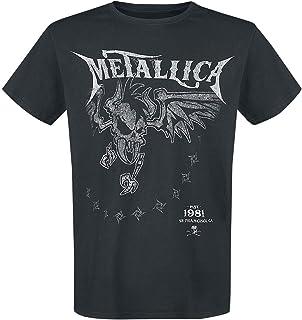 Metallica Hetfield Iron Cross Guitar Top Tirante Ancho Negro