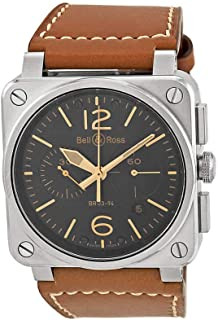 Bell & Ross Aviation Golden Heritage Black Dial Chronograph Automatic Mens Watch BR0394-GOLD-HER