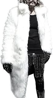 Mens Winter Faux Fur Warm Thicker Long Parka Coat Cardigan