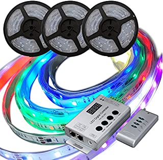 マジック LEDテープライト 20m 光が流れる RGB (GT-SET5050RGBHC-20M-4A-CN5) 最大200M延長可能 防水加工 150leds リモコン操作 SMD5050 LEDテープ 間接照明 led (20M セット)